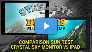 Comparison DJI CrystalSky Monitor vs iPad - Steel City Drones Flight Academy