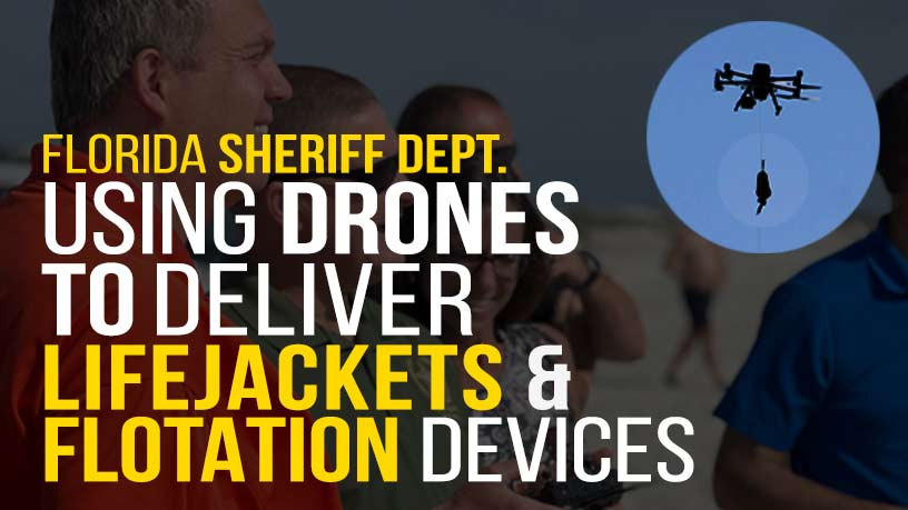 Sheriff Department using drones to deliver lifejackets - Steel City Drones Flight Academy