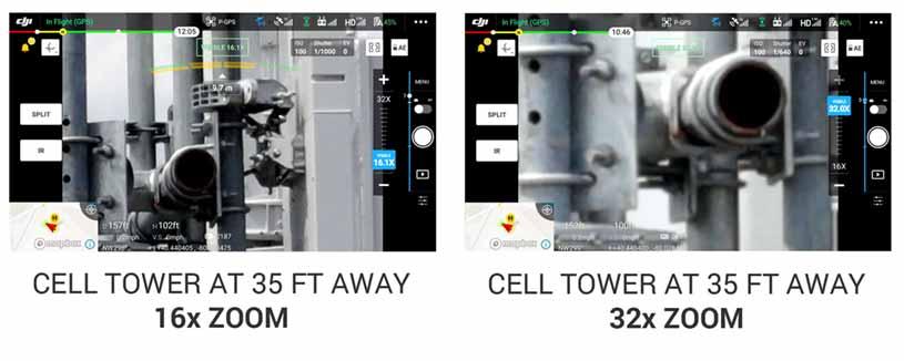 Mavic 2 Enterprise Advanced RGB Camera Zoom Test - Steel City Drones Flight Academy